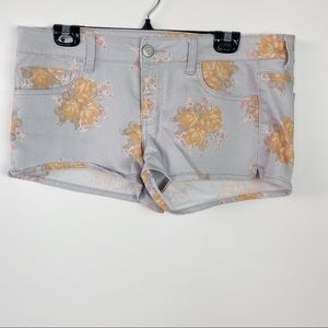 American Eagle Outfitters floral denim shorts